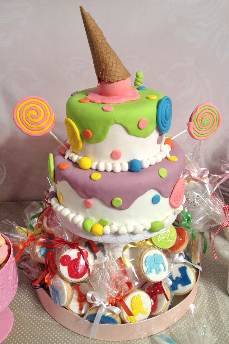 Candies & ice cream cake