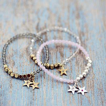 Glittery Swarovski Star Stretch Bracelet