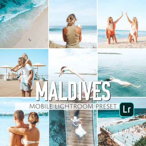 Mobile Lightroom Preset / Maldives Beach Mobile Preset / Blogger