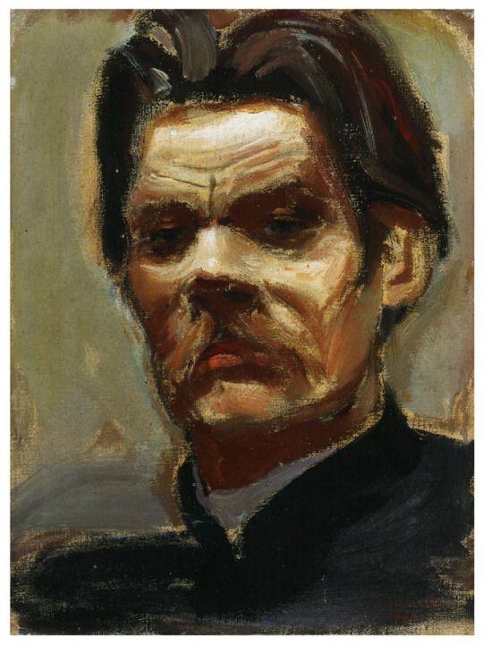 Akseli Gallen-Kallela (1865-1931) Portrait of Maxim Gorky, 1906