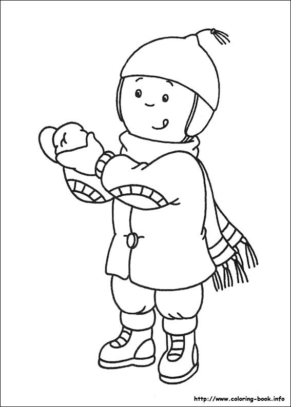 Caillou Coloring Pages Online Picture 26