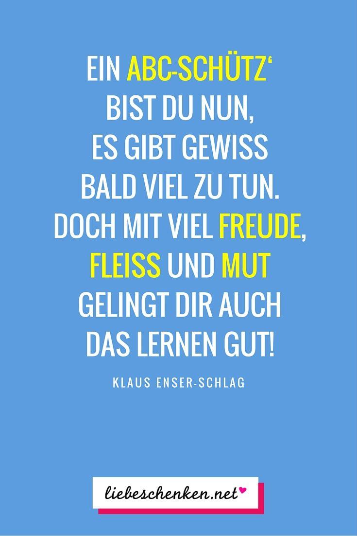 """Einschulungsgedicht: """"Ein ABC-Schütz' bist du nun..."""" // Gedichte & Sprüche zur Einschulung"""