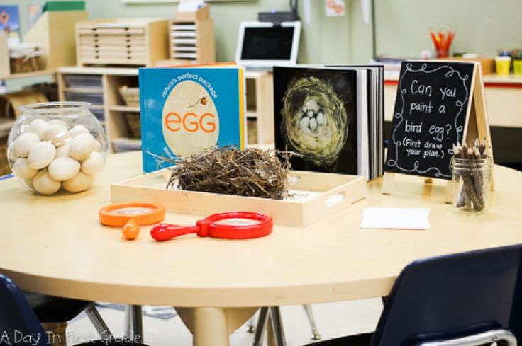 "A reggio-inspired art project while kindergarten students study birds-- Here is our provocation: ""Can you paint a bird egg?"""