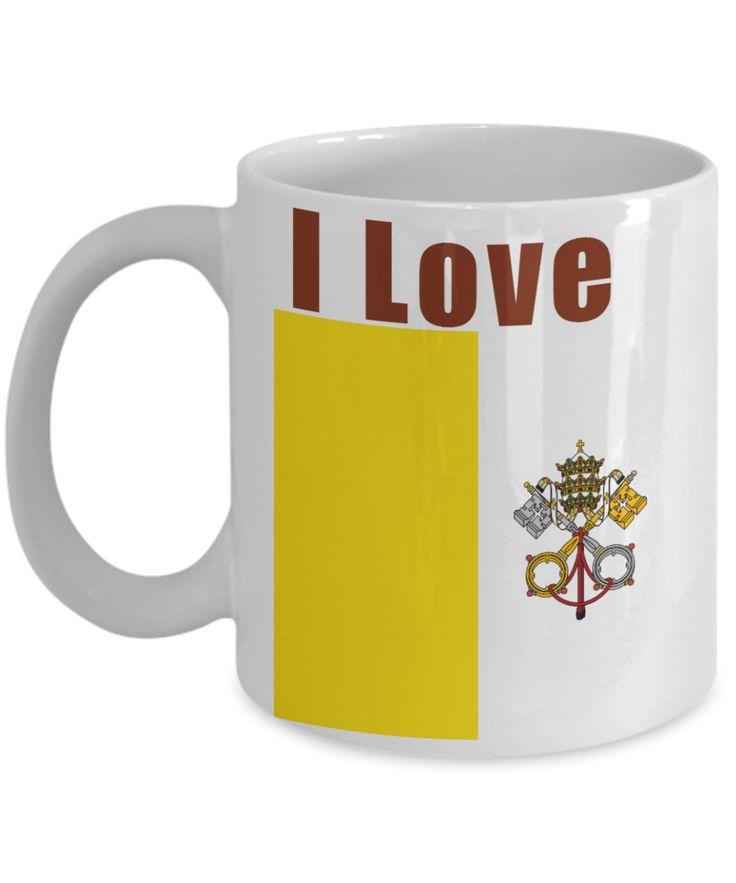 I Love Vatican City Coffee Mug With A Flag