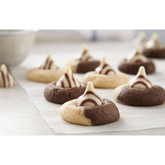 HERSHEY'S KISSES Marbled Blossom Cookies