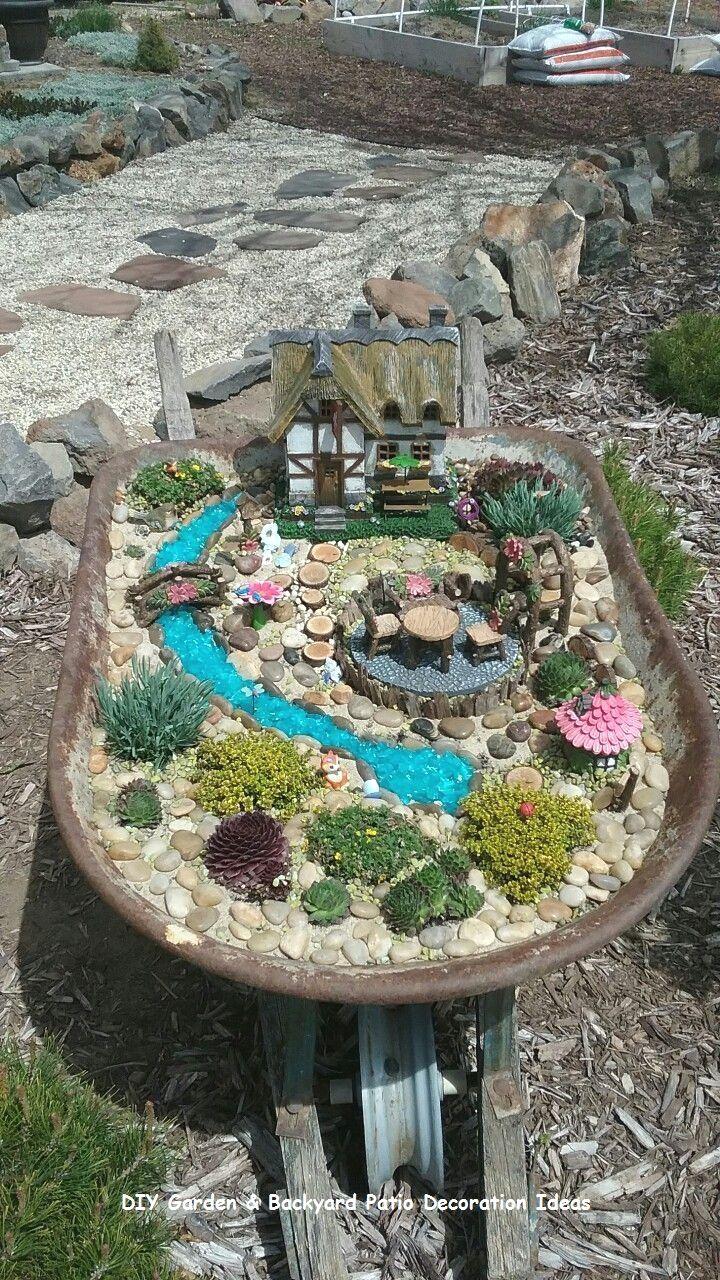 New And Cheap Garden Backyard Patio Furniture Ideas Diy Backyardpatio Backyard Indoor Fairy Gardens Fairy Garden Fairy Garden Diy