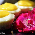 Mini Cheesecake fara coacere cu lemon curd