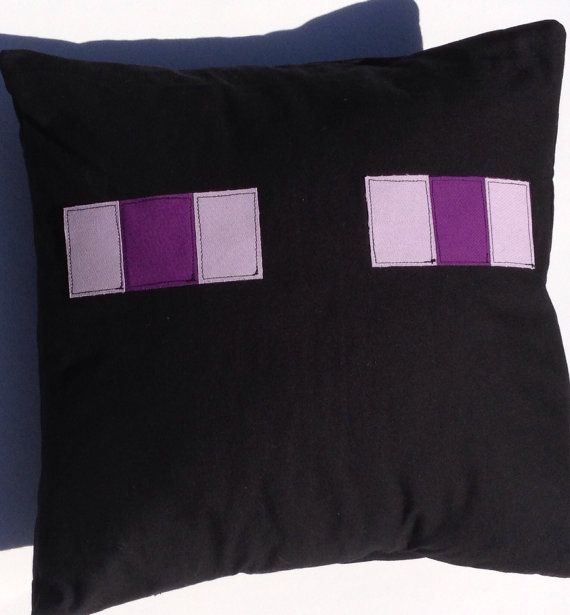 Minecraft Enderman Appliqué Pillow Cover by RaspberryCreek on Etsy, $25.00