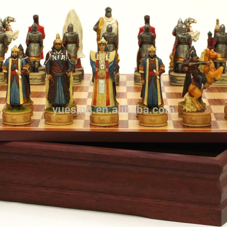 Wonderful Detailed Chess Set Part - 11: High Quality Customized Resin Chessmen,Chess Set,With Wooden Chess Board  Photo, Detailed