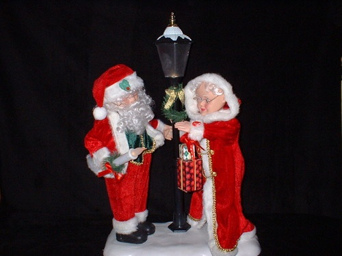 17 best images about animated mr and mrs claus on for 59 victorian lighted black lamp post christmas decoration