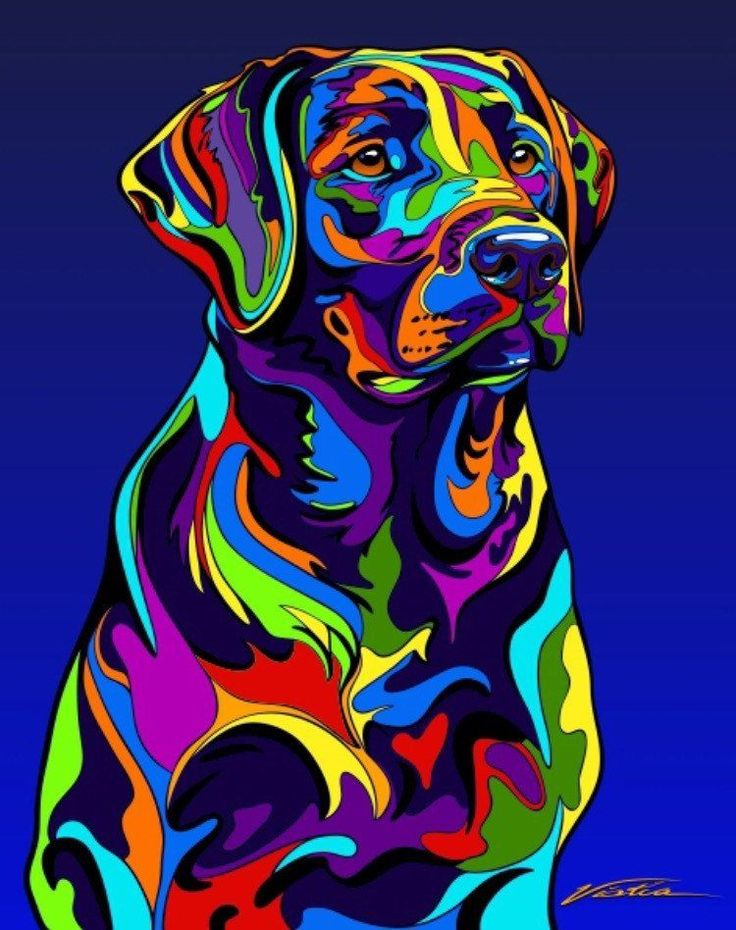 Multi-Color Labrador Retriever Dog Breed Matted Prints & Canvas Giclées