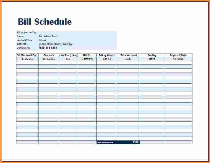 Monthly Payment Schedule Template Elegant Free Weekly Schedule Templates For Excel Smartsheet Markmec Schedule Template Payment Schedule Spreadsheet Template