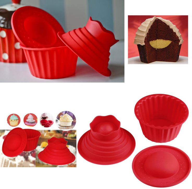 how to make a giant cupcake with silicone mould