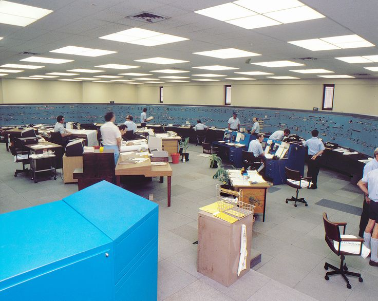 Pic of the week: Glamorous 80s mission control! Caption: Mayne Control 1983.