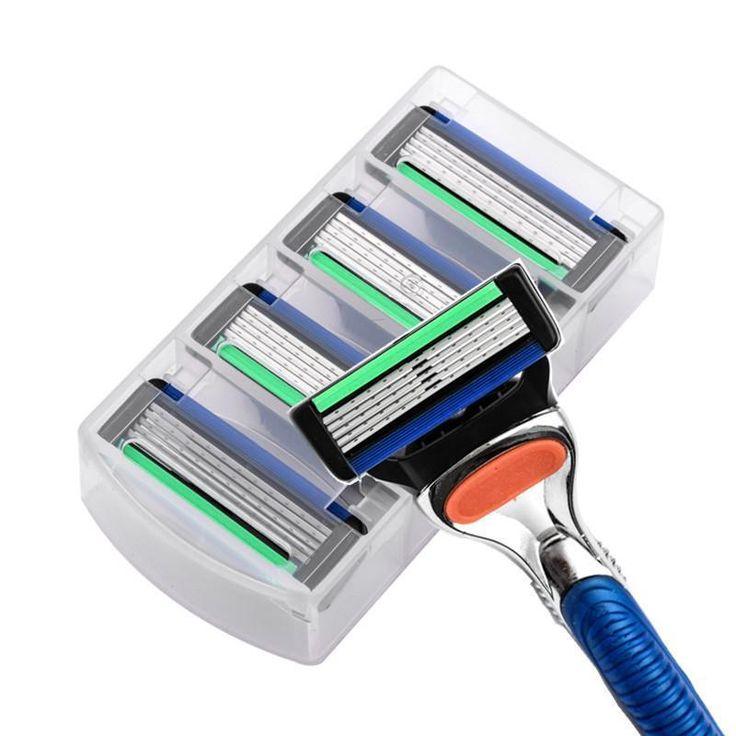 4Pcs/Lot Razor Blade For Men Face Care Shaving Safety,5-Blades Cassette Shaving Standard For Fusione