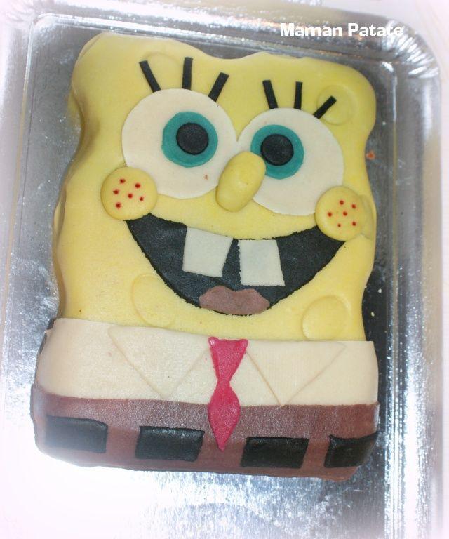 gateau bob l'eponge - sponge bob cake