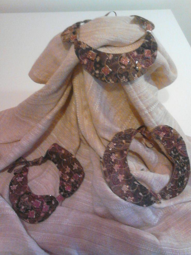 colletti con castoni color rame