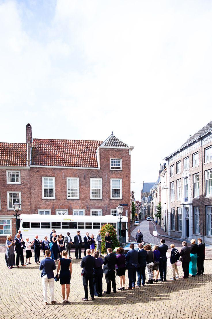 Bruiloft bij stadhuis Dordrecht