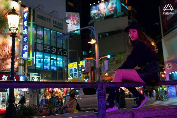 osaka by night night picture street urban