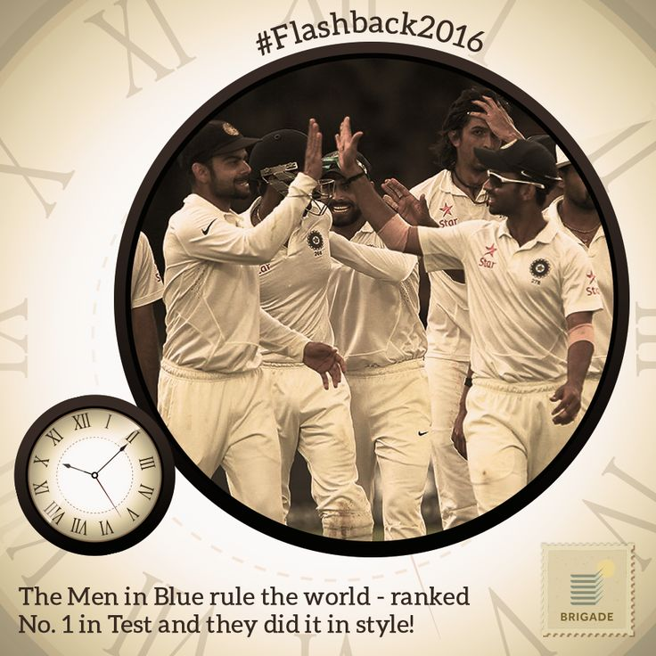 #India ends 2016 as No. 1 in the #ICC Test #Cricket rankings and recorded a 5th straight test series win - a record in its own right!