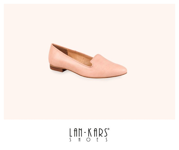Pastelowe, wygodne lordsy!  #pastel #lords #shoes #pink #nude #leather #flats #girly #lankars