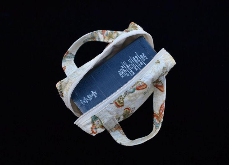 Butterfly 'McKenzie' Scripture case, Handmade Scripture Case, fabric scripture case, book bag by MayboleandWick on Etsy