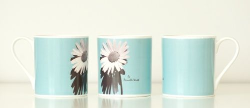 """Another new design - """"Blue Flower"""" Mug. Designed by Photographer Pernille Westh"""
