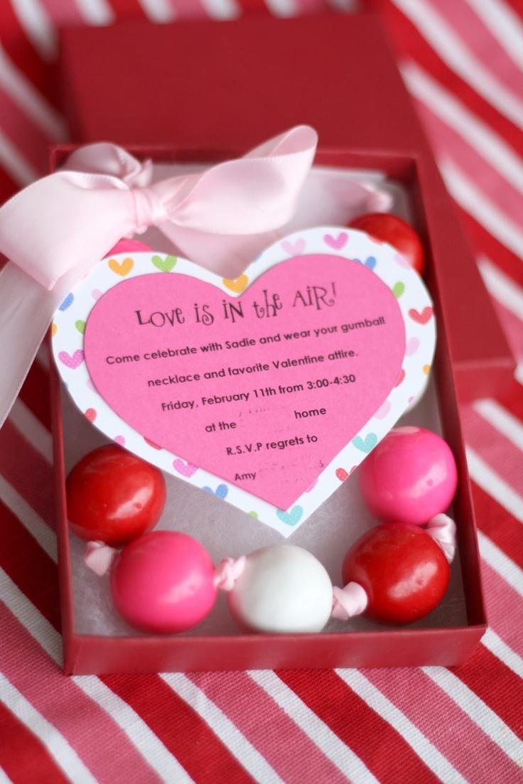 Colorful Valentine Party Invite Adornment - Invitations and ...