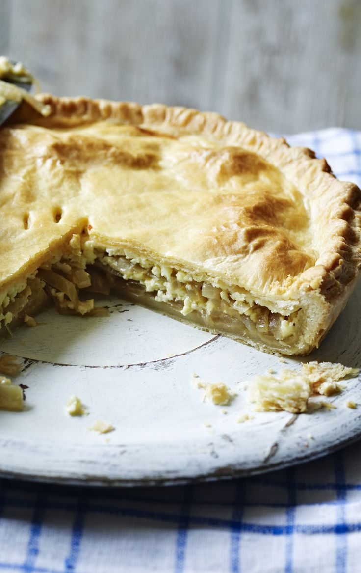 King of comfort food Simon Hopkinson gives us his mum's recipe for cheese and onion pie.