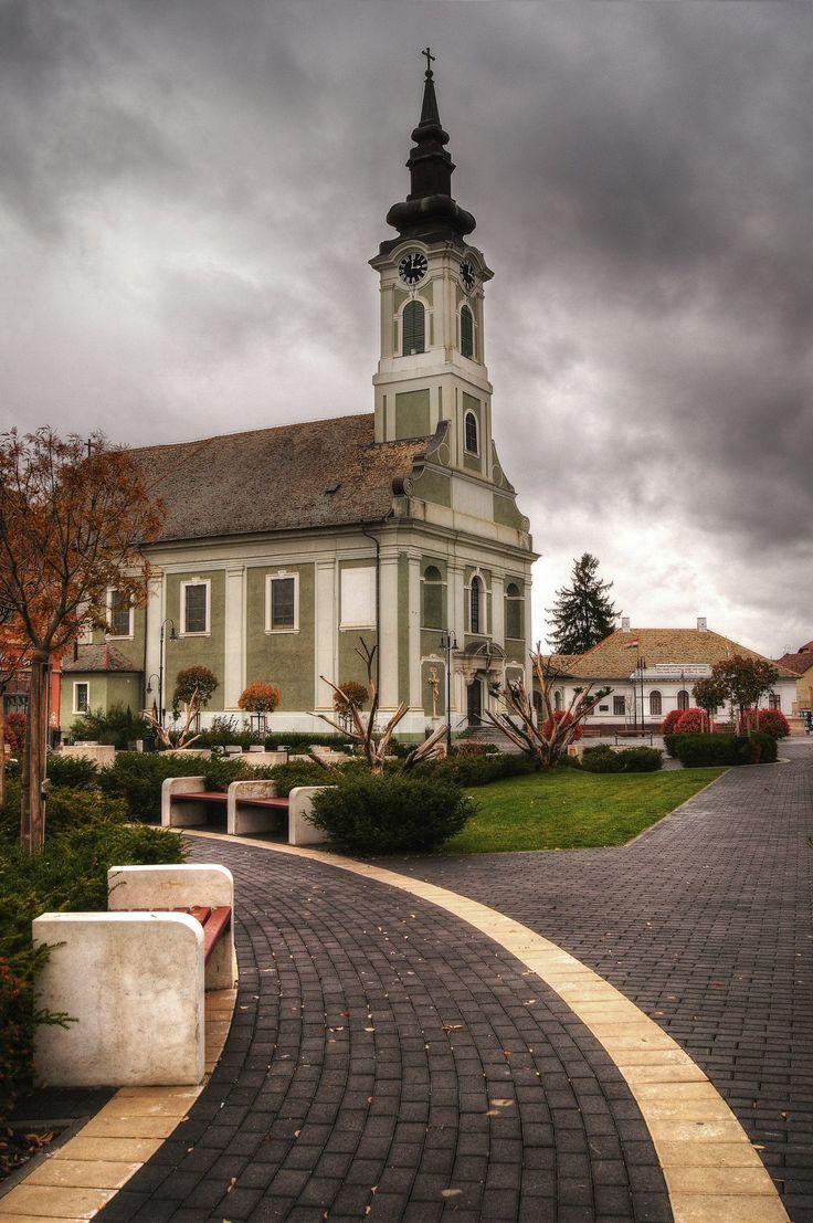 Baja, Tóth Kálmán tér, Belvárosi templom  , Magyarország ( Hungary )