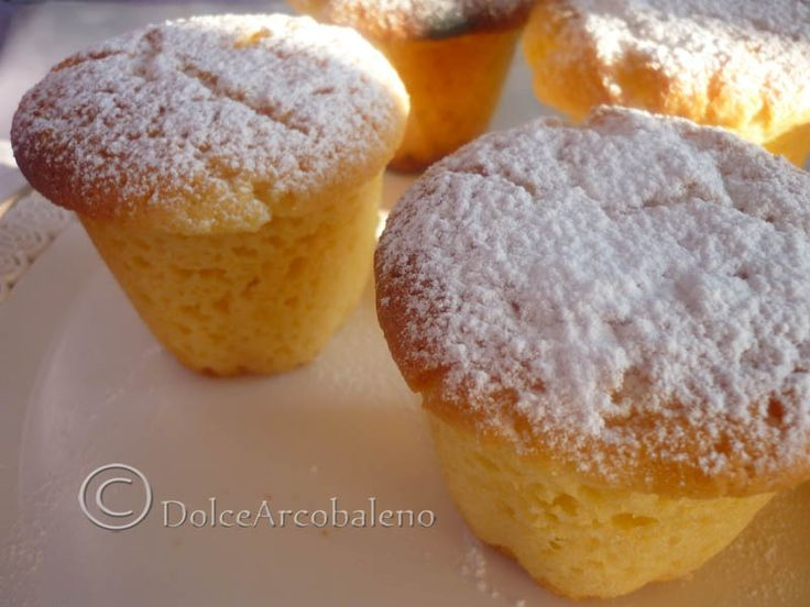 Muffin morbidissimi, ricetta dolce. Muffin soft, sweet recipe.