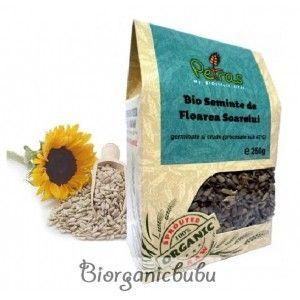 Seminte germinate de floarea soarelui BIO RAW, 250 g