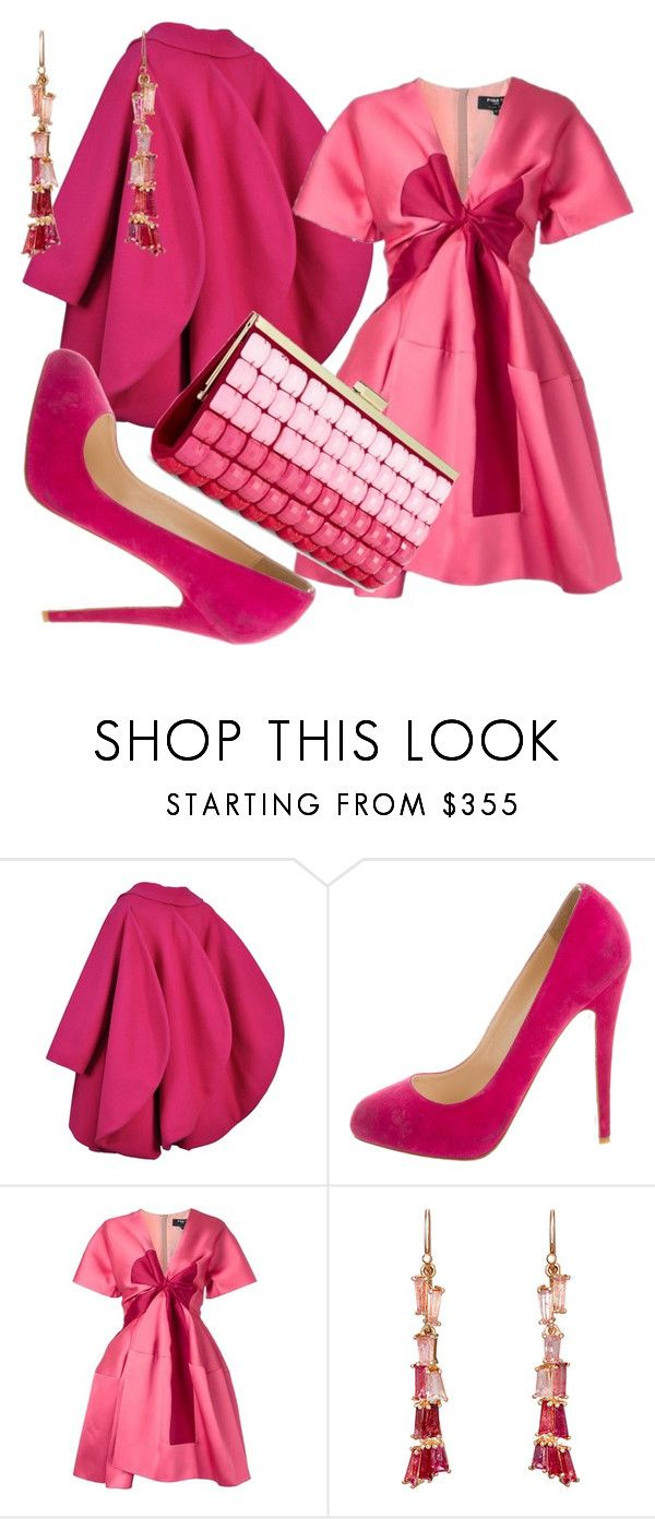 """""""Slightly Pink"""" by fashionforwarded ❤ liked on Polyvore featuring Pierre Cardin, Christian Louboutin, Paule Ka, Nak Armstrong and INC International Concepts"""