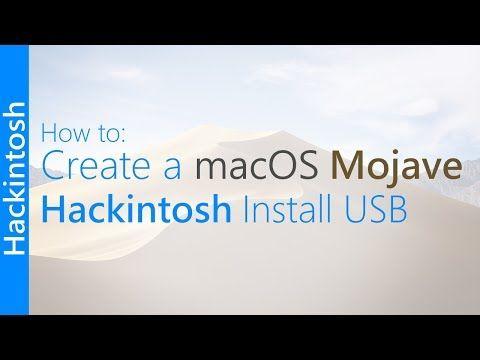 GUIDE] Create a macOS Mojave Hackintosh Install USB - YouTube