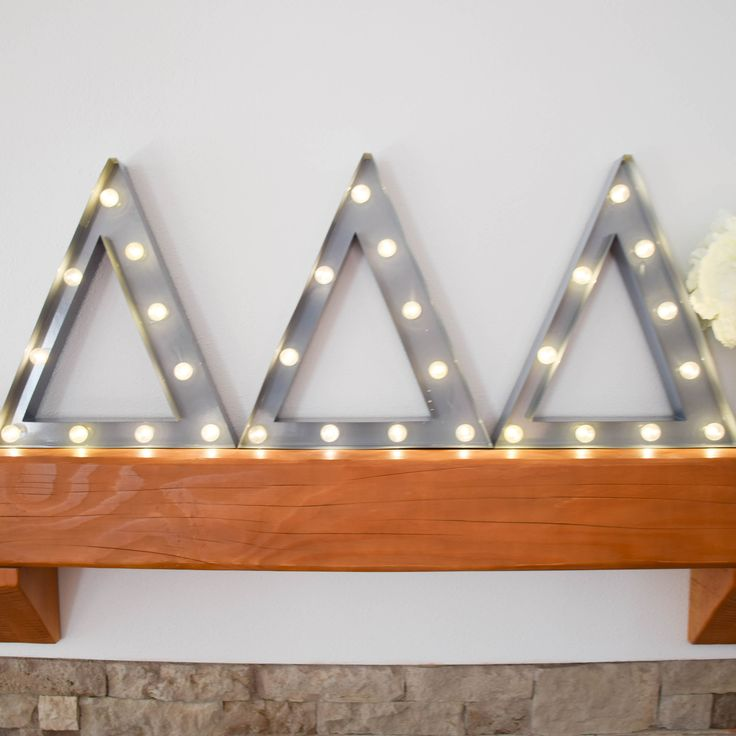 Tri Delta sorority marquee letter lights - the perfect decoration for every house, dorm or recruitment room! www.alistgreek.com