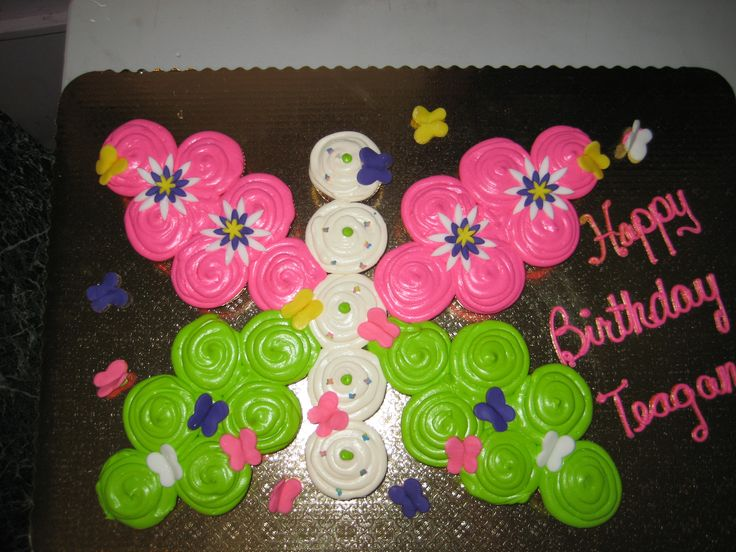 Butterfly Pull Apart Cupcake Cake