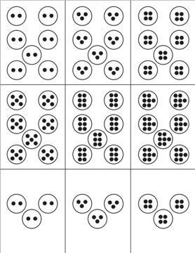 Here's a set of subitizing dot cards for multiplication. @Amber Mize