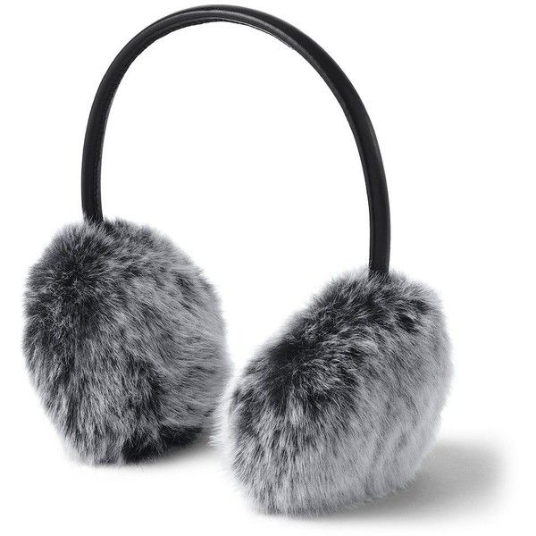 Lands' End faux fur earmuffs.