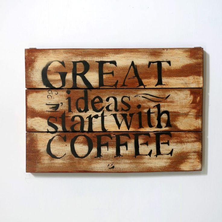 woodpainting 30 x 40 x 2 cm  #woodsign #homedecor #dekorasirumah #interiorjakarta #painting #vintage #retro #wallart #homedesign #coffee  detail info & custom design please contact (0274) 646 1457 whatsapp 081904122277 line ID ALLDECOS