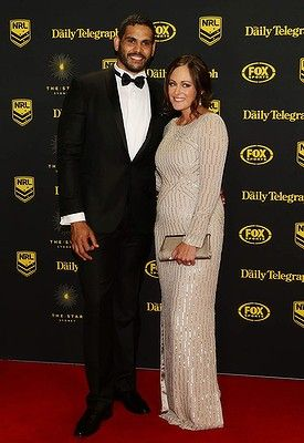 #GregInglis and Sally Inglis arrive at the Dally M Awards at Star City on September 29, 2014 in Sydney, Australia.