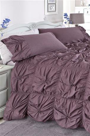 Next.co.uk - Ruched Mauve Bed Set - Double £50