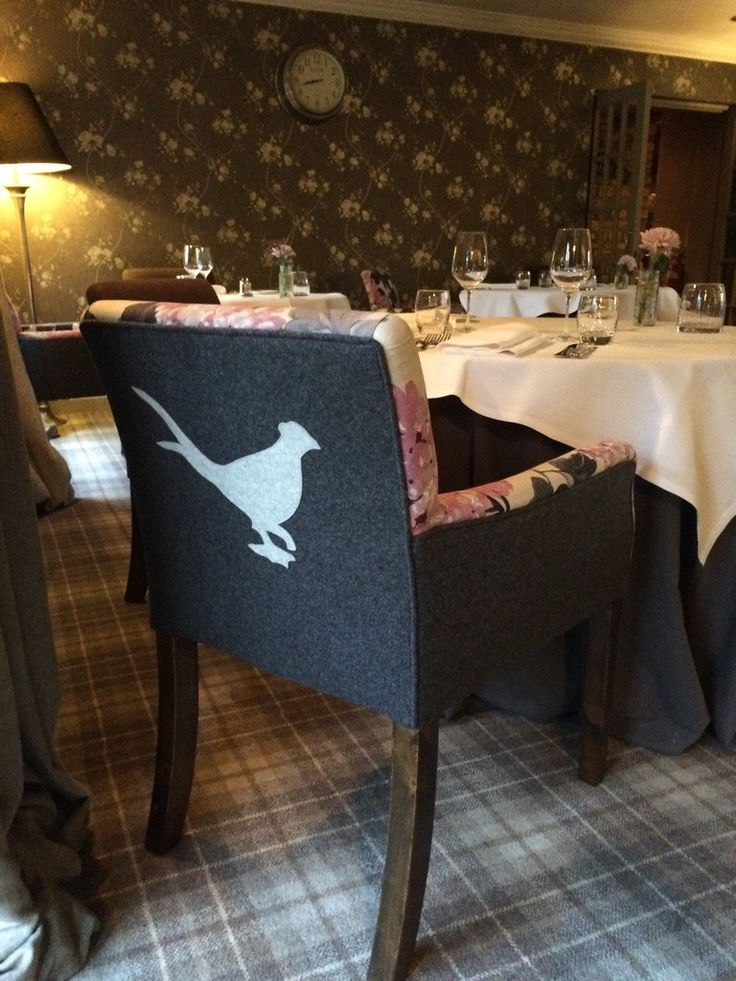 "The Pheasant Hotel ""Thank you to the exceptional team at Peter Silk for the innovative design of our new restaurant chairs. We are very lucky to have such incredible quality workmanship on our doorstep"" http://www.petersilk.co.uk"