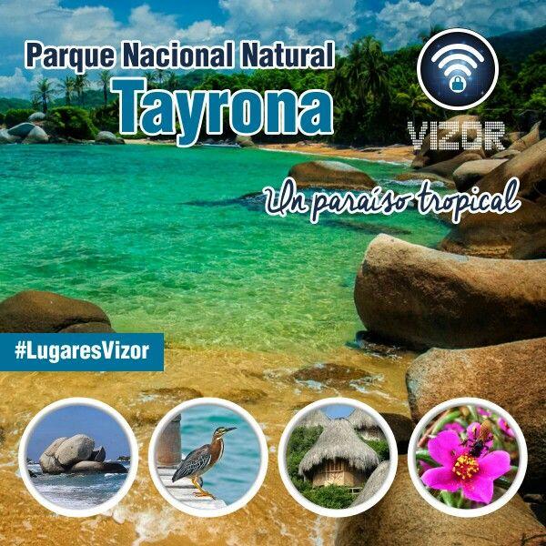 #Vizor te invita a descubrir el #ParqueNacionalNaturalTayrona #Colombia #LugaresVizor   Www.vizormobil.com