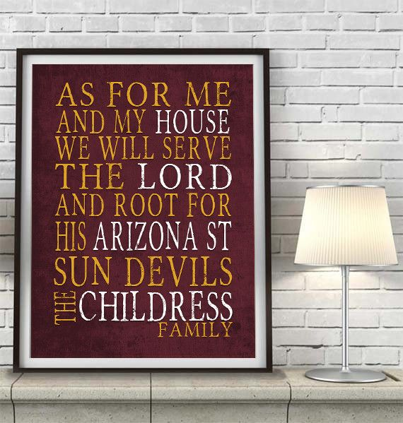 Arizona State Sun Devils Customized Art Print As For Me Parody Unframed