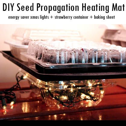 How To Make A Diy Seedling Propagation Heating Mat From Holiday String Lights Everything Christmas Garden Seeds