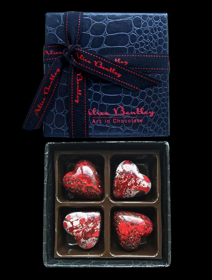Silver & Red Blood Hearts www.alicbentleychocolates.com