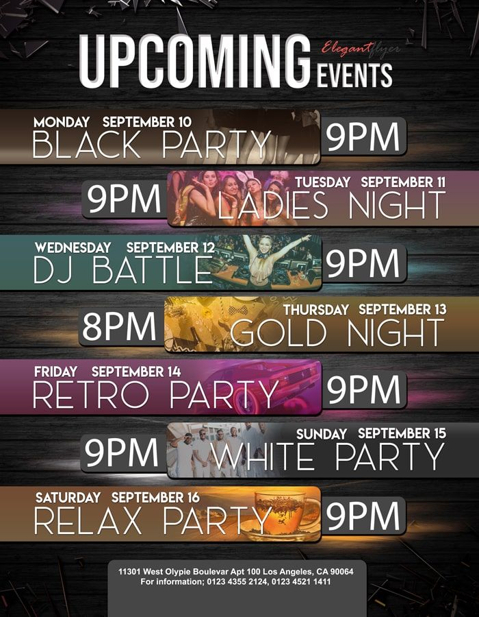 Upcoming Events Free Flyer Psd Template Event Flyer Templates