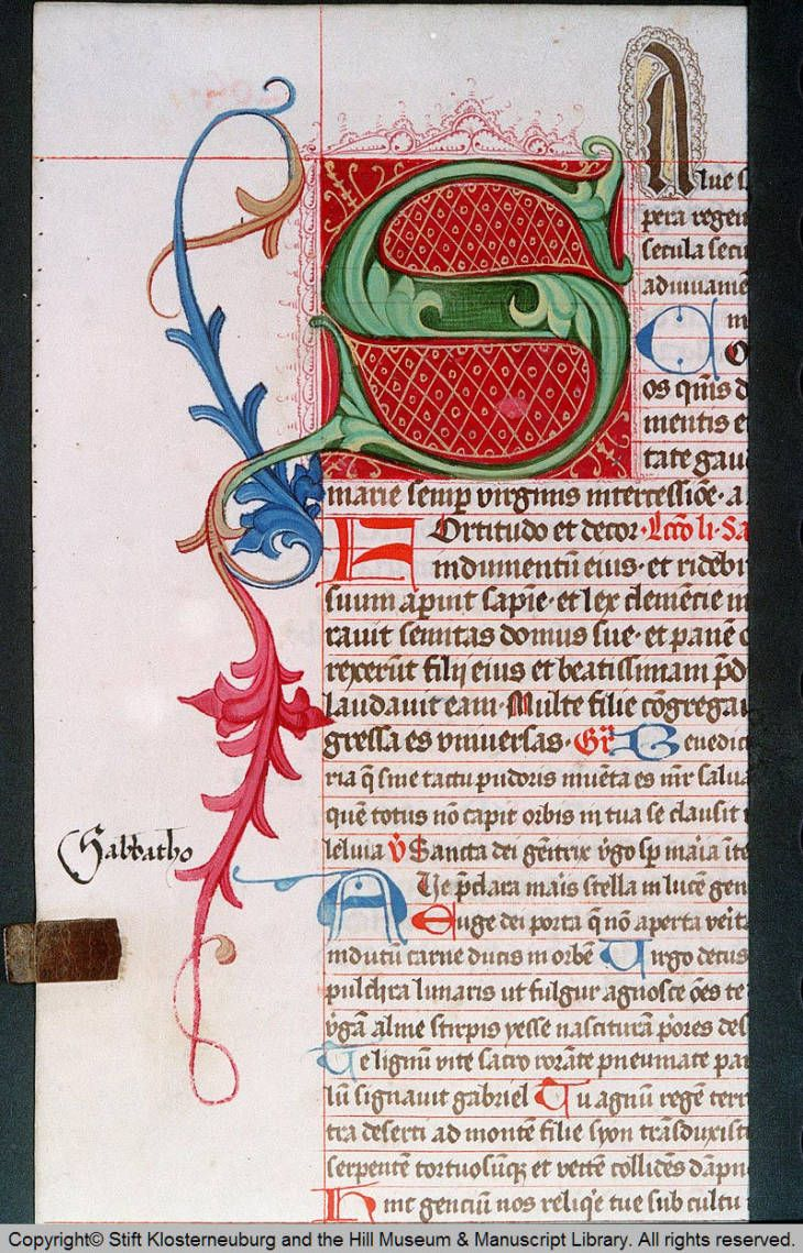 Title Codex Claustroneoburgensis 612 Description Initial S Missale Plenarium Ad Usum Ecclesi Graffiti Alphabet Illuminated Letters Free Calligraphy Fonts