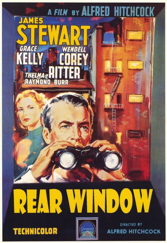 Great alternate Rear Window poster (recently made a guest appearance in the new Spiderman movie!)