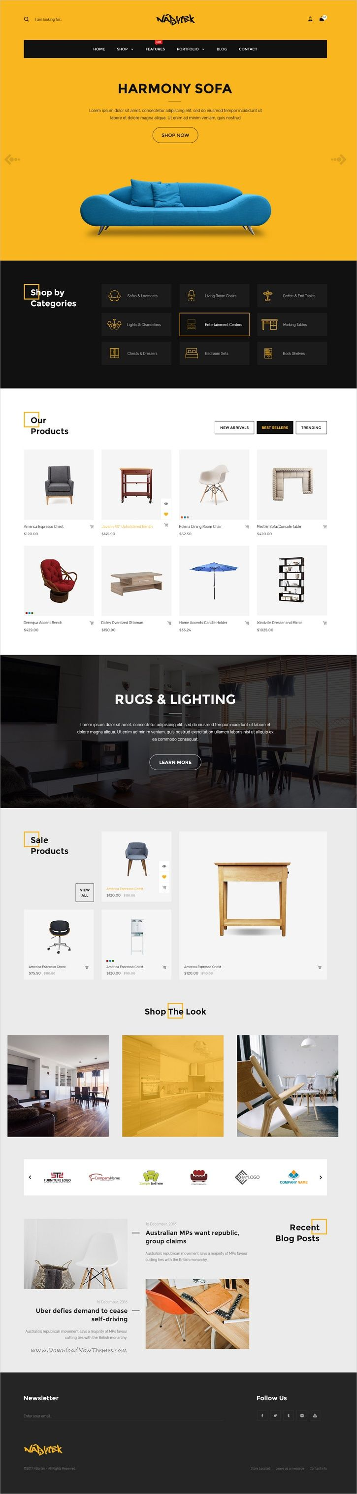Hitron is a modern and creative PSD template for stunning #furniture #decor #shop eCommerce website with 14 unique homepage layouts and 52 layered PSD files download now➩ https://themeforest.net/item/hitron-multistore-psd-template/19514996?ref=Datasata